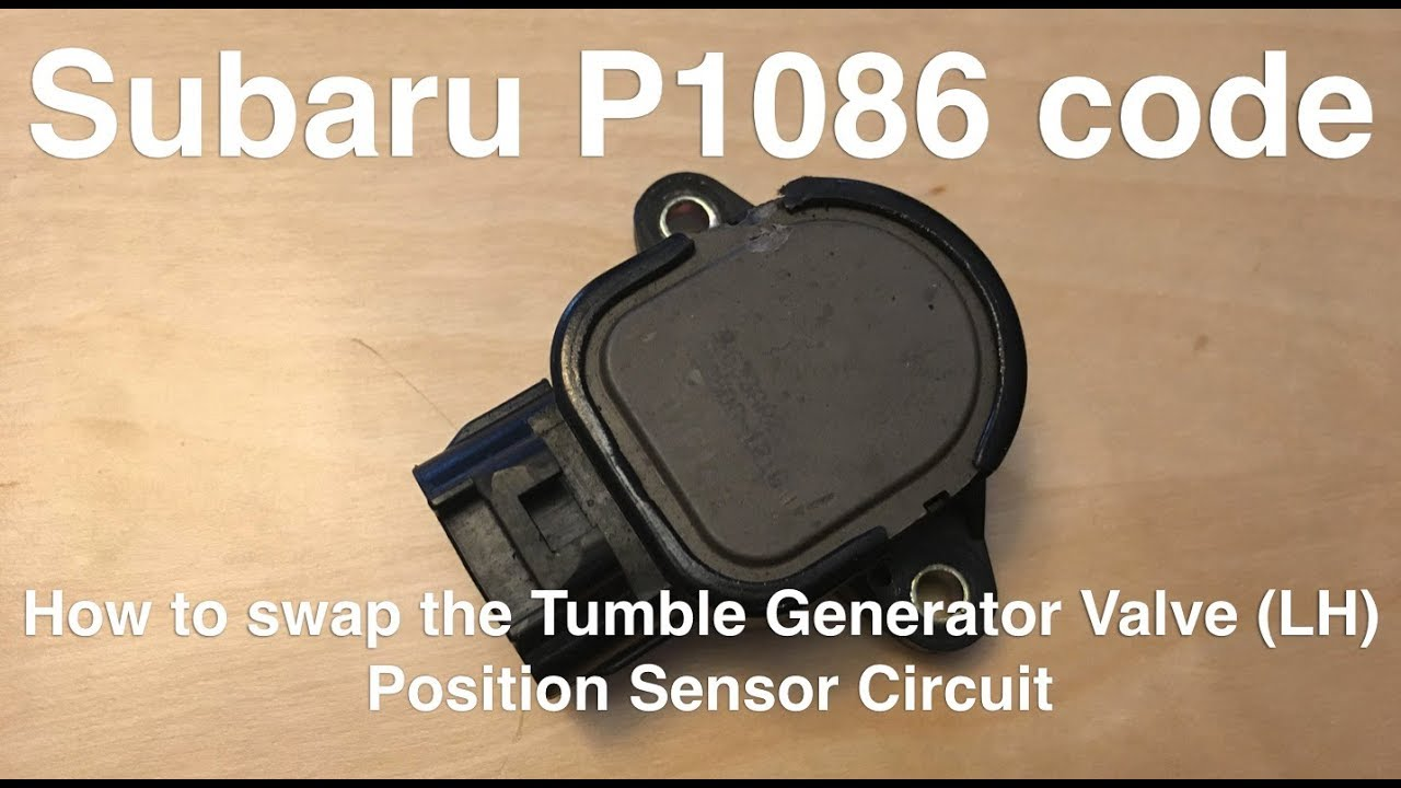 Subaru P1086 Error Code: How to swap the TGV position sensor in a 2004 on