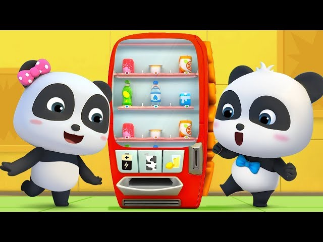What's in Vending Machine? | Baby Panda's Cool Car | Magical Chinese Character | BabyBus Cartoon