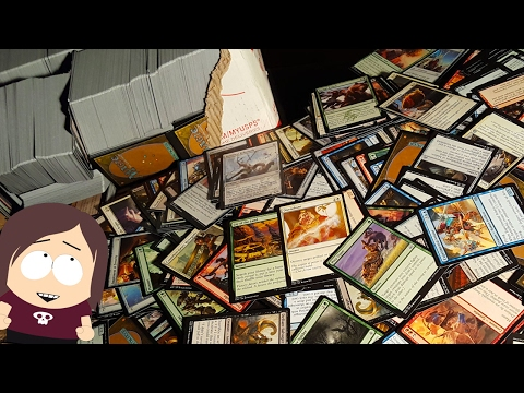 Mystery Unboxing || 28 Pounds of Bulk Magic The Gathering Cards ~7000 Trading Cards