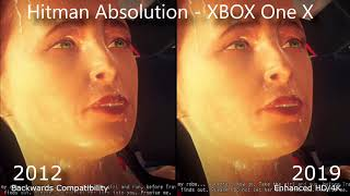 Hitman Absolution 2019 HD Enhanced Collection vs 2012 Original Comparison - XBOX One X