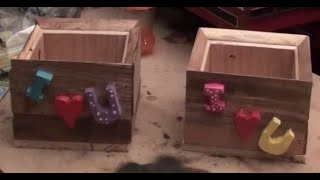 Make a flower pot from palletwood