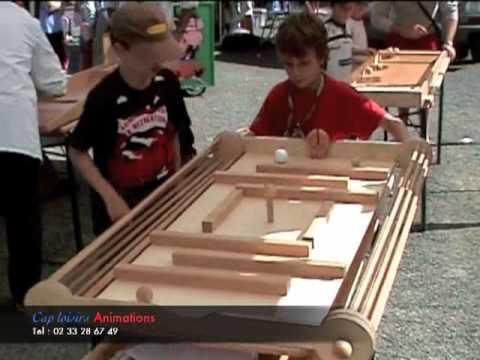 jeux de bois géants surdimensionnés cap loisirs animations - youtube