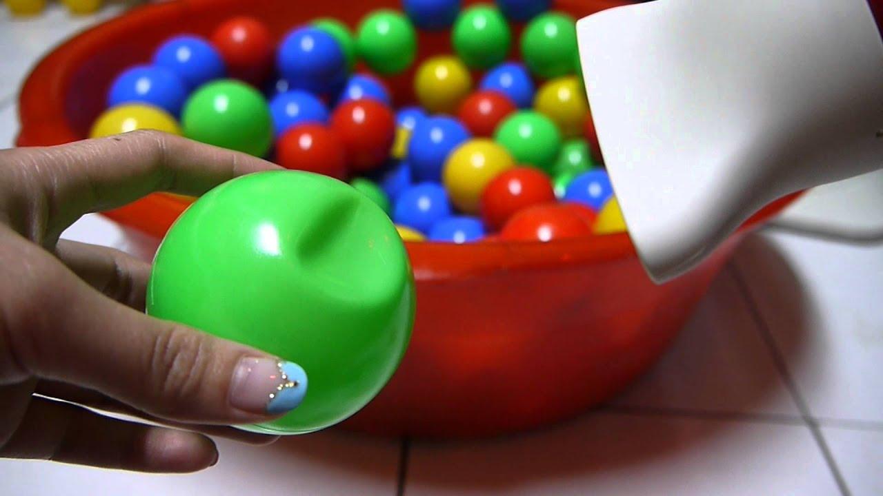 球池中的玩具塑膠球凹下去如何修復教學影片 - YouTube