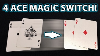 4 ACE Magic Card Trick Switch YOU CAN DO! REVEALED!