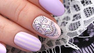 Мастер-класс дизайн ногтей. Кружевной маникюр.