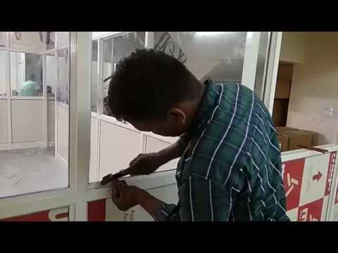 Mr. Abrar preparing Office Partition at Vaishali Nagar, Jaipur - Jaipur Aluminium Works