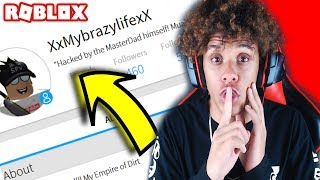 HACKING A SUBSCRIBERS ACCOUNT IN ROBLOX! *I GAVE FREE ROBUX*