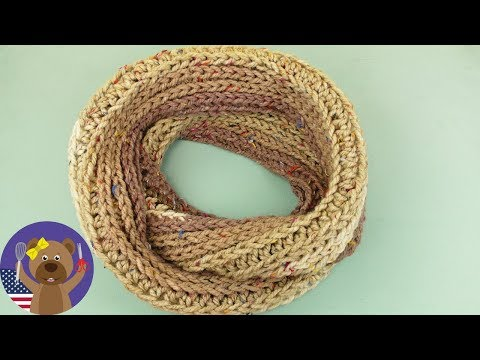 Crocheting Loop Scarves | One Spool - One Scarf Crocheting and Knitting  Instructions for Beginners