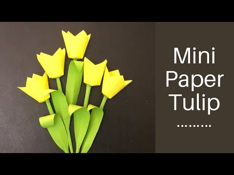 Stick flower making / easy paper flower / DIY paper craft / bouquet ideas / paper tulip / tutorial