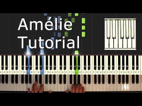 Amélie  Comptine d'un Autre Été  Yann Tiersen cover  Piano Tutorial Easy  How To Play