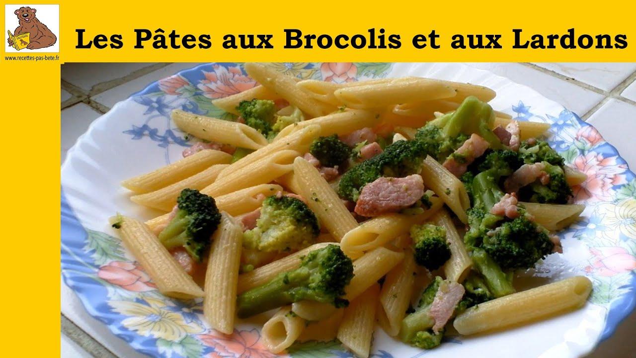 les p 226 tes aux brocolis et aux lardons recette rapide et facile hd