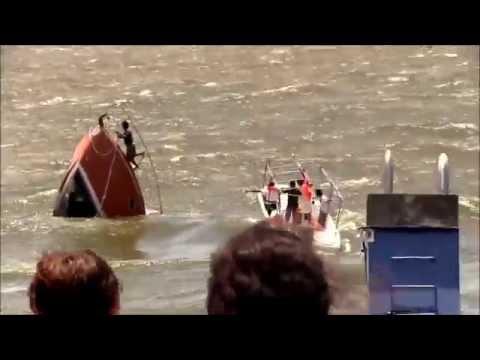 Hundimiento del yate de Milton Arcia - Lago de Nicaragua