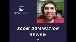 Ecom Domination Review 2017|ecom domination + my bonus