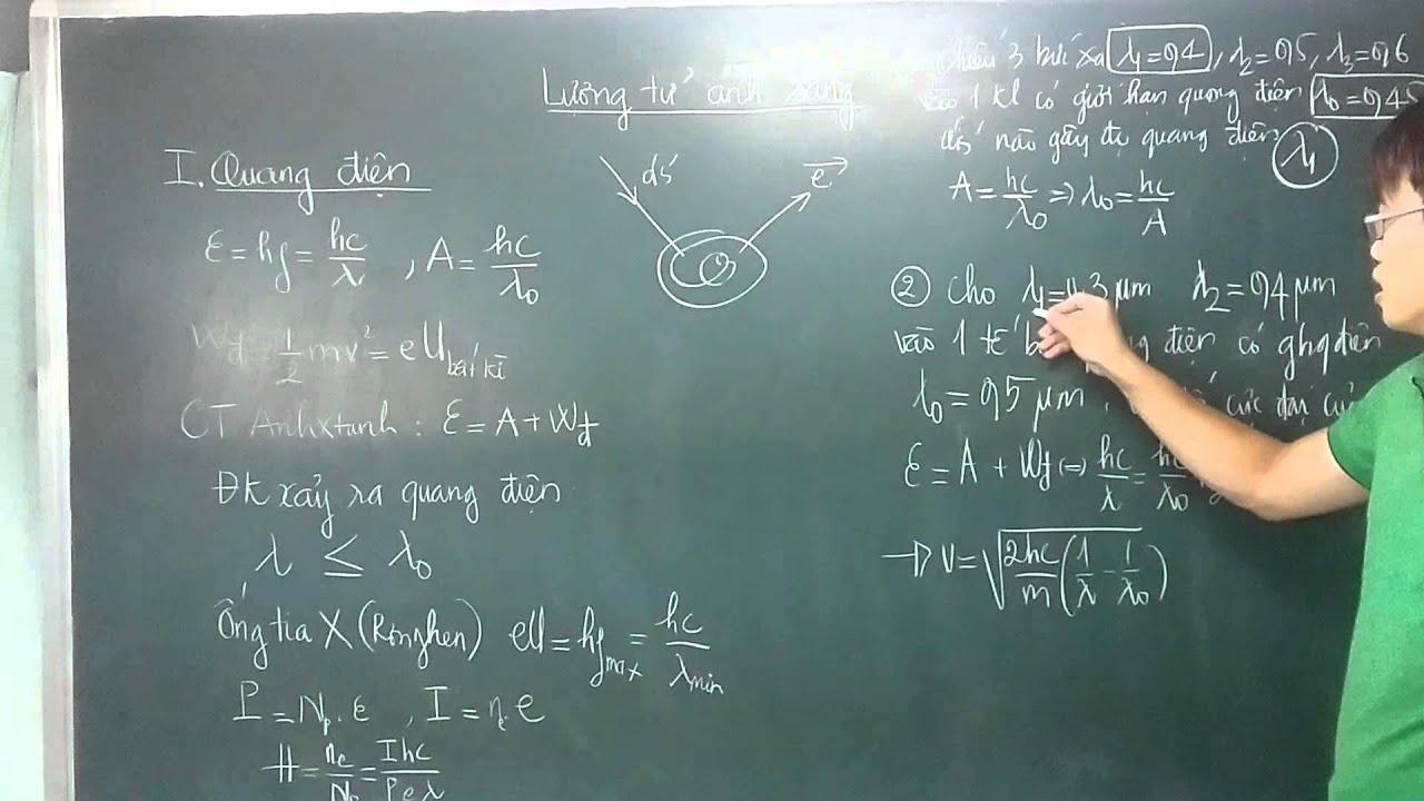 Lý 12 – Chương 6 Hiện tượng quang điện .