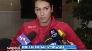 Echipa naţională de handbal feminin a României s-a întors acasă