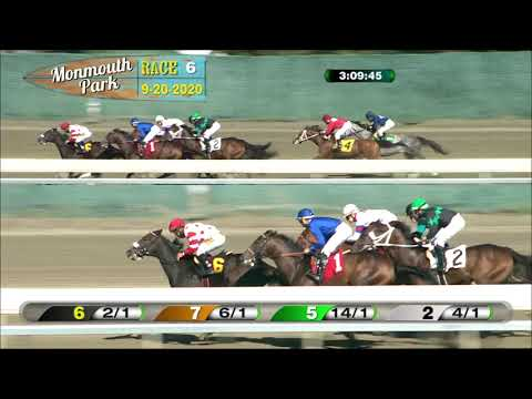 video thumbnail for MONMOUTH PARK 09-20-20 RACE 6