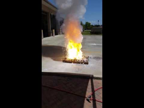 Magnesium Fire Extinguished With Fireice