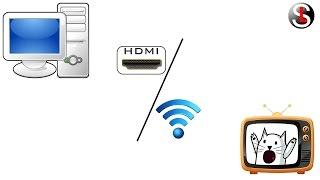 видео Как  подключить  компьютер  к  телевизору через    Wi-Fi