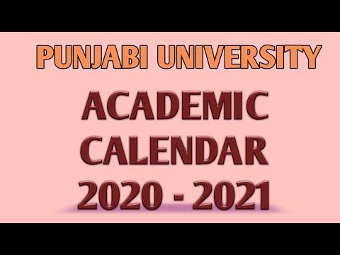 Nyu Academic Calendar 2022.Academic Calendar 2020 2021 Punjabi University Youtube