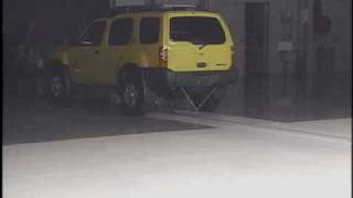 Crash Test 2001 Nissan Xterra ( 5 M.P.H) Rear into Pole IIHS