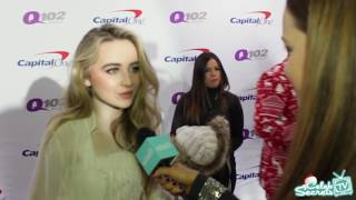sabrina carpenter interview q102 philly jingle ball 2016