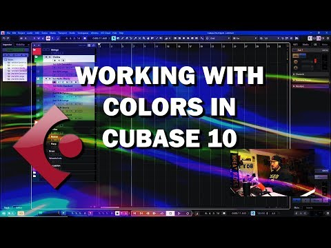 Cubase 10 Tutorial – Working with Colors