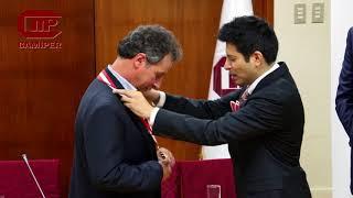 CAMIPER condecora al Ministro de Minería y Metalurgia de Bolivia