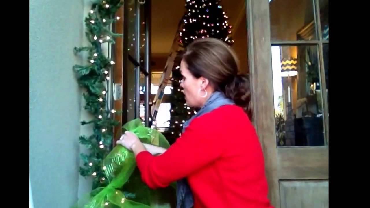 Front door deco mesh christmas decorations - Deck The Halls Christmas Decorating With Deco Mesh