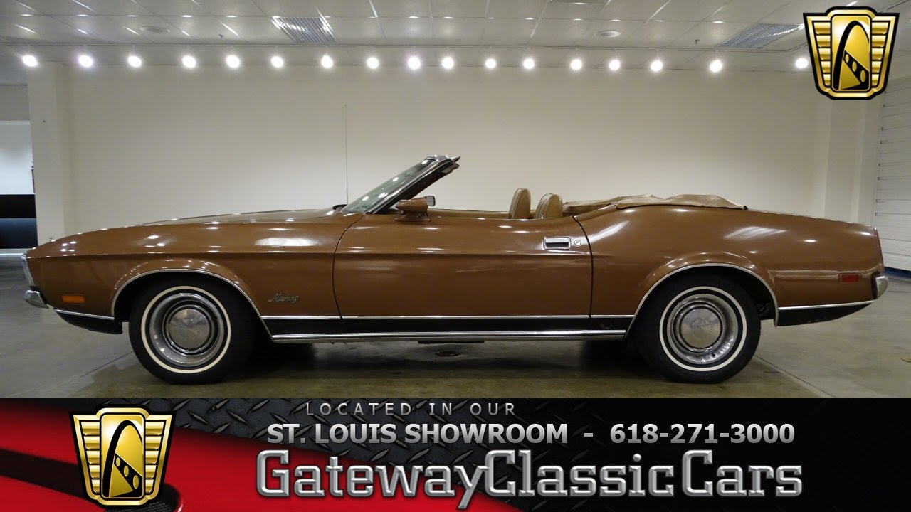 1972 ford mustang convertible stock 7018 gateway classic cars st louis showroom