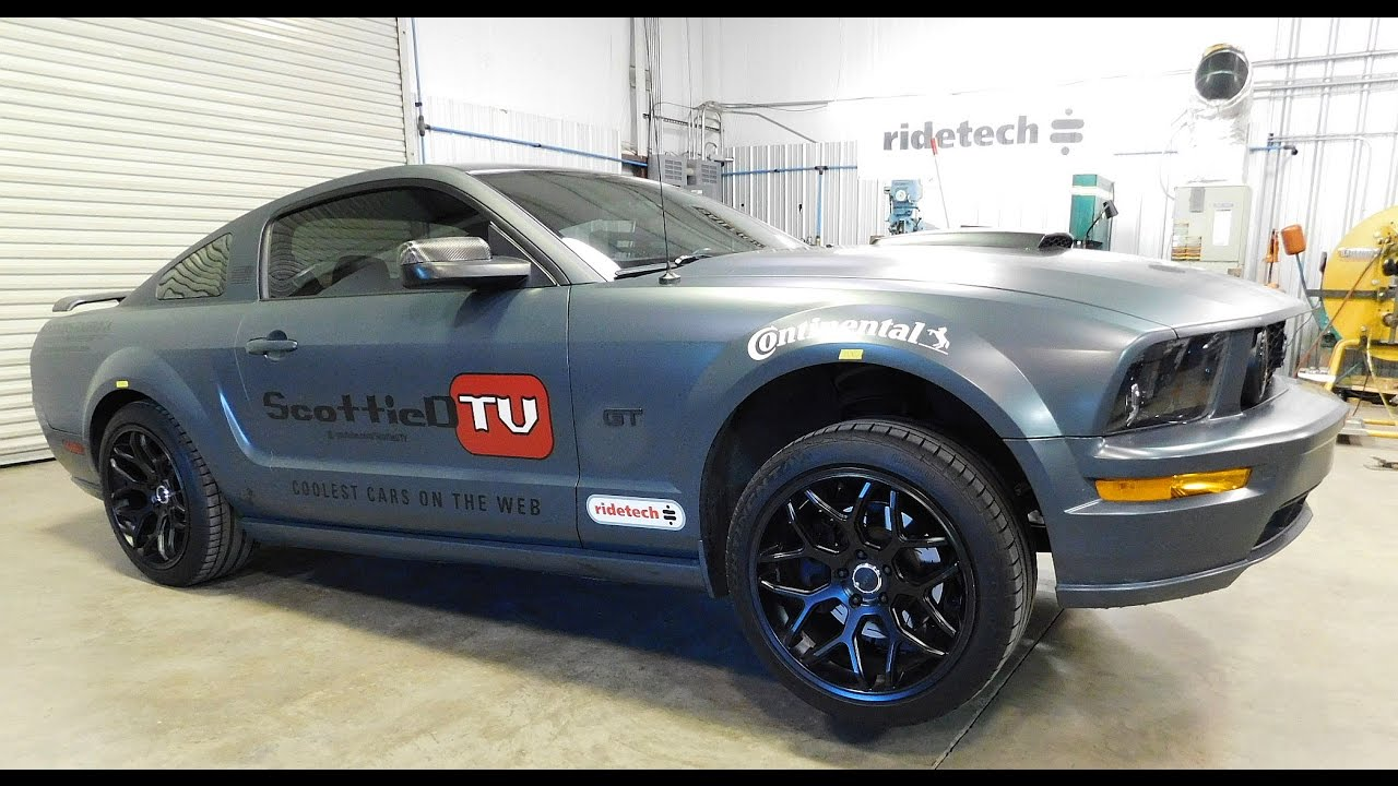 Ford Mustang Gt Ridetech Coilover Upgrade How To Set Ride Height