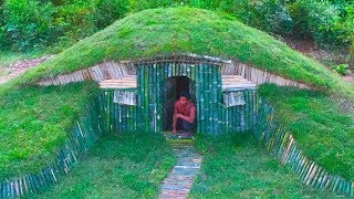 Unbelievable! A Small Hill become Beautiful Underground House Build by a Men - Hobbit House part 2