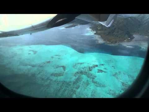 Air Tahiti landing in Raiatea
