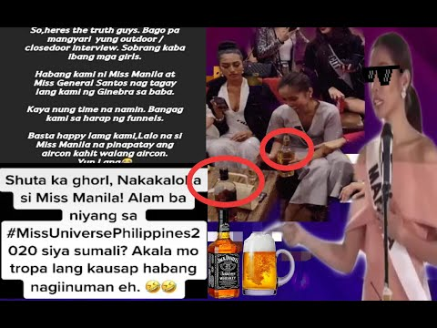 MISS MANILA | NAKAINOM UMANO KAYA DI MAKASAGOT NG MAAYOS SA INTERVIEW #MISSUNIVERSEPHILIPPINES2020