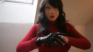 Repeat youtube video Masking and dressed latex doll