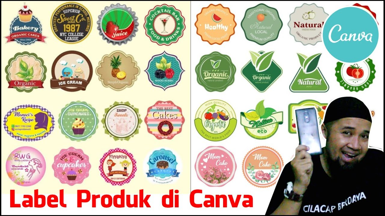 Cara Membuat Sticker Label Produk di canva - tutorial stiker produk dengan canva