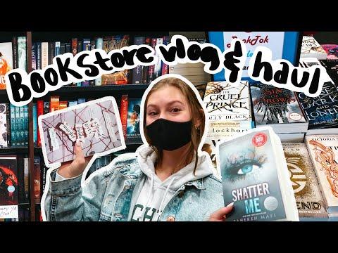 book shopping vlog & haul!