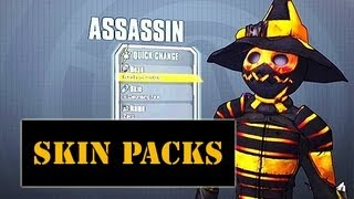 All Assassin Skin Packs, Supremacy, Domination, Madness: Borderlands 2