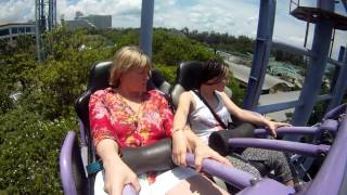 my mom s first roller coaster ride
