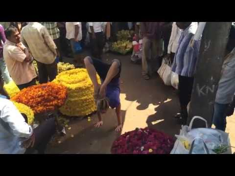 Kino Yoga Mysore Flower Market Handstand