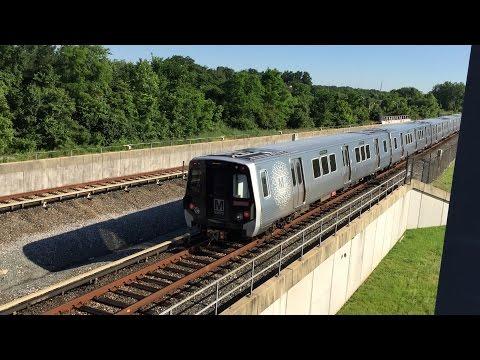 Washington Metrorail HD 60 PFS: Kawasaki 7000 Series Green & Yellow Line Trains @ College Park