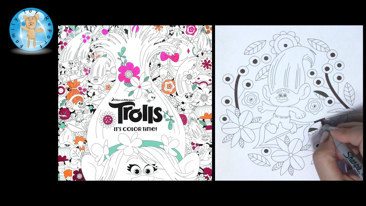 Dreamworks Trolls It S Color Time Adult Coloring Book
