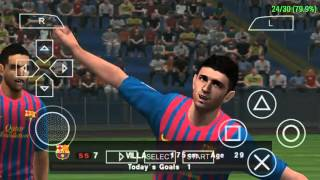 PES 2012 PPSSPP ANDROID GAMEPLAY