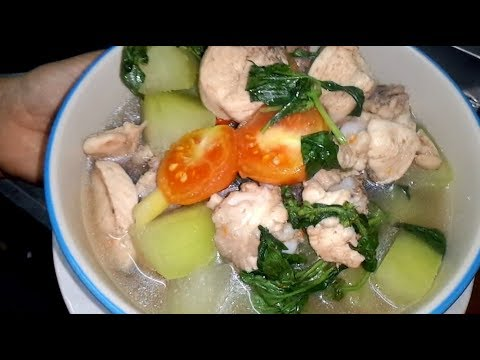 chicken curry with Winter Melon - laos food