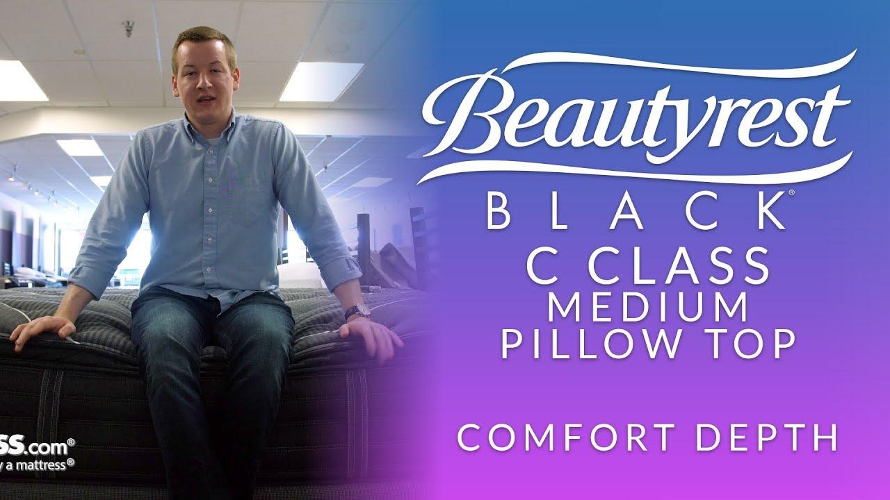 beautyrest black c class medium pillow top mattress comfort depth 1