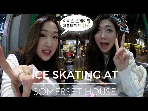 아이스 스케이팅 더블데이트 👫⛸ Ice skating at Somerset House