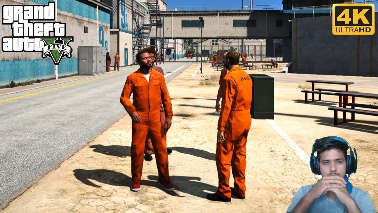 GTA 5 : FRANKLIN PRISON ESCAPE ????