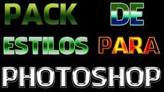 tutorial photoshop cc - como baixar e instalar um pack com vários estilos de camada para photoshop