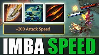 Double Hit (0.26s) Imba Attack Speed Ursa Passive [Fury Swipes + Double Attack] Dota 2 Ability Draft