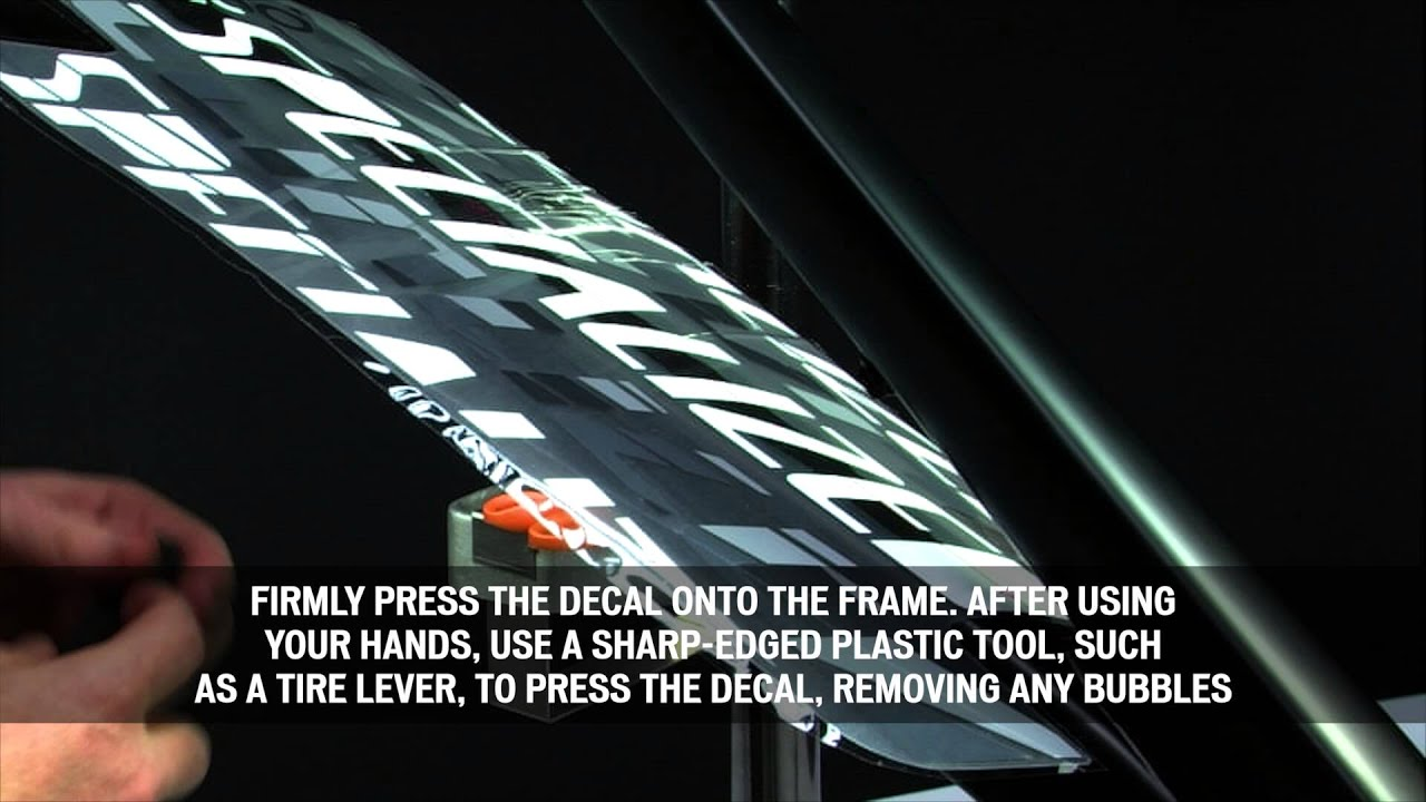 Specialized how to frame decal application