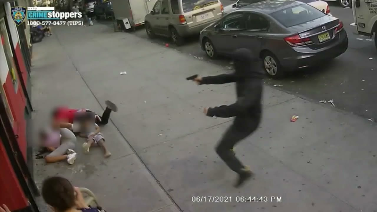 Download SHOCKING VIDEO: Kids dive for cover in brazen broad daylight shooting caught on video